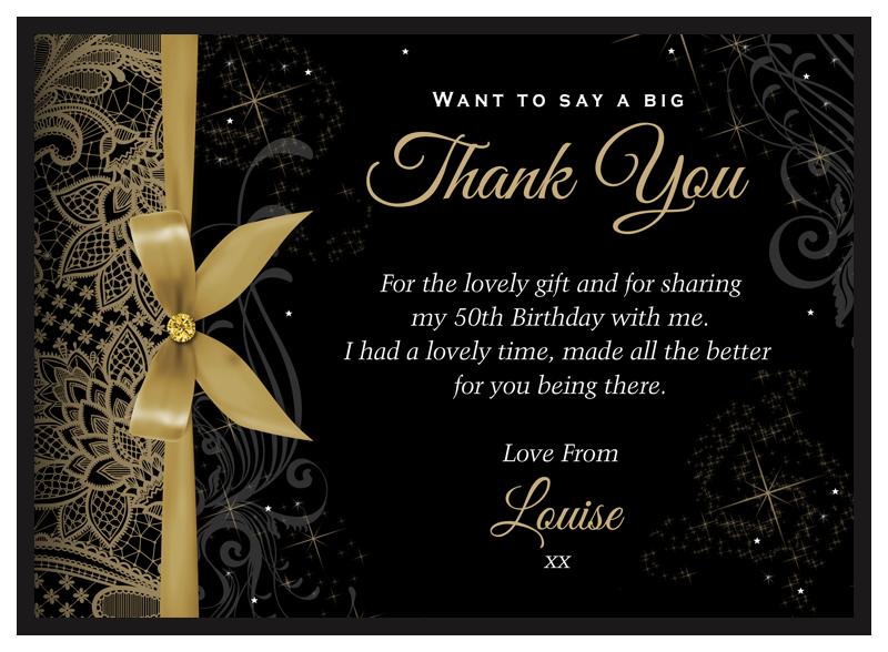 Birthday Thank Yous