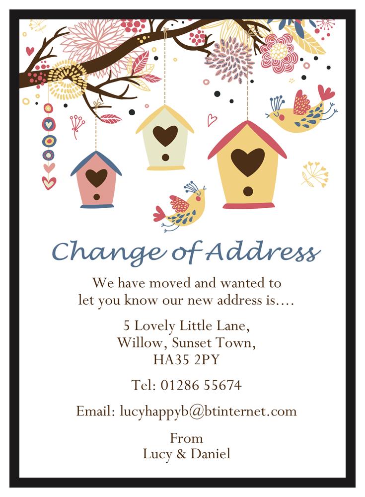 Change of address coupons