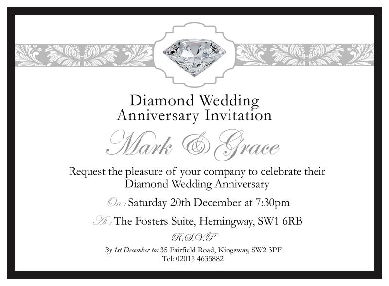 Diamond Wedding Invitations D L Designs Ltd