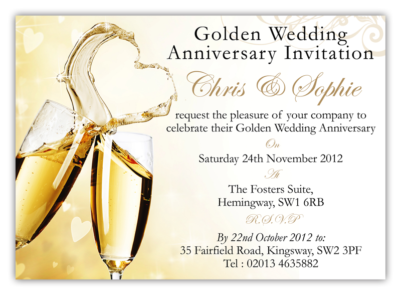 Golden wedding invitations dl designs ltd design code gwa 1 stopboris Gallery