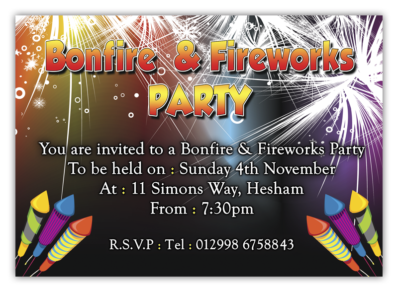 bonfire invitations d l designs ltd
