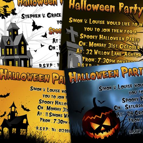 halloween invitations d l designs ltd