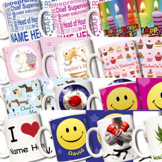 Ceramic mugs add your name