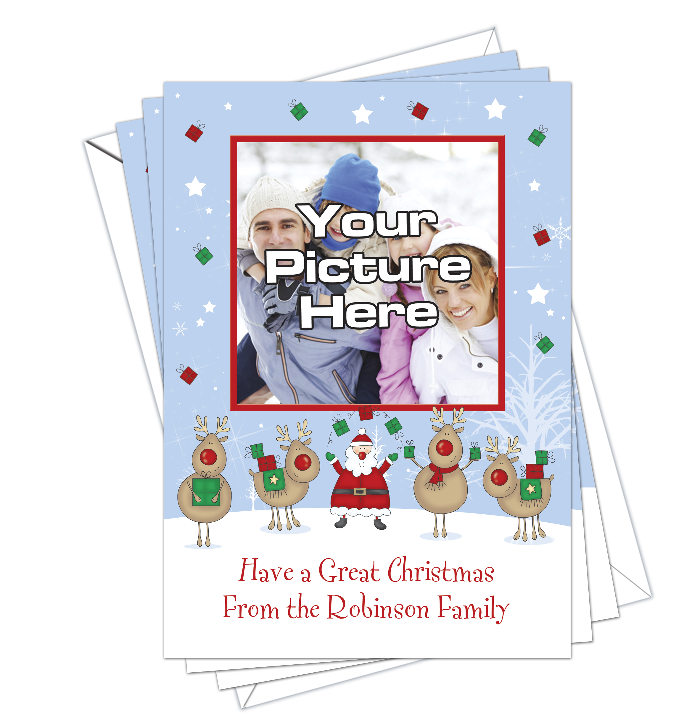 Christmas cards own photo pack of 10 dl designs ltd christmas cards own photo pack of 10 kristyandbryce Choice Image