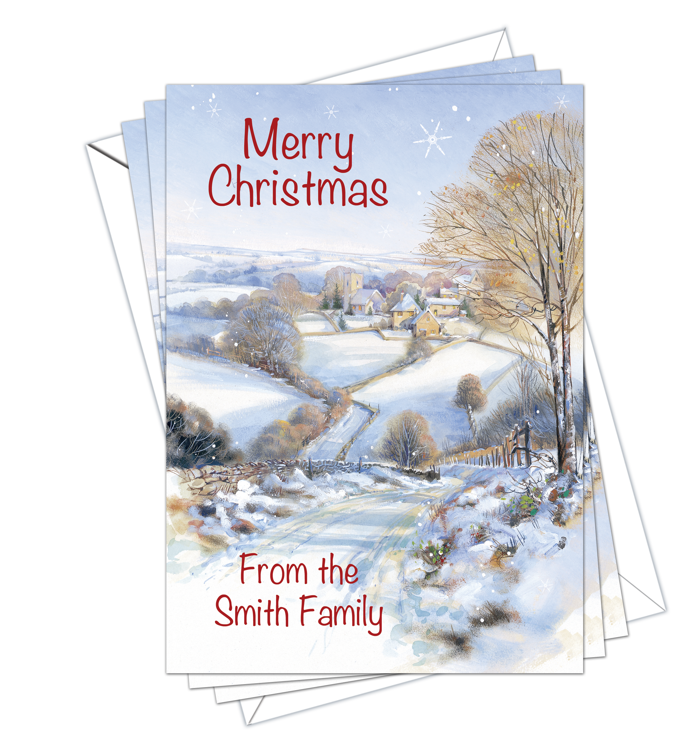 Christmas Cards Traditional Pack of 10 - D&L Designs Ltd