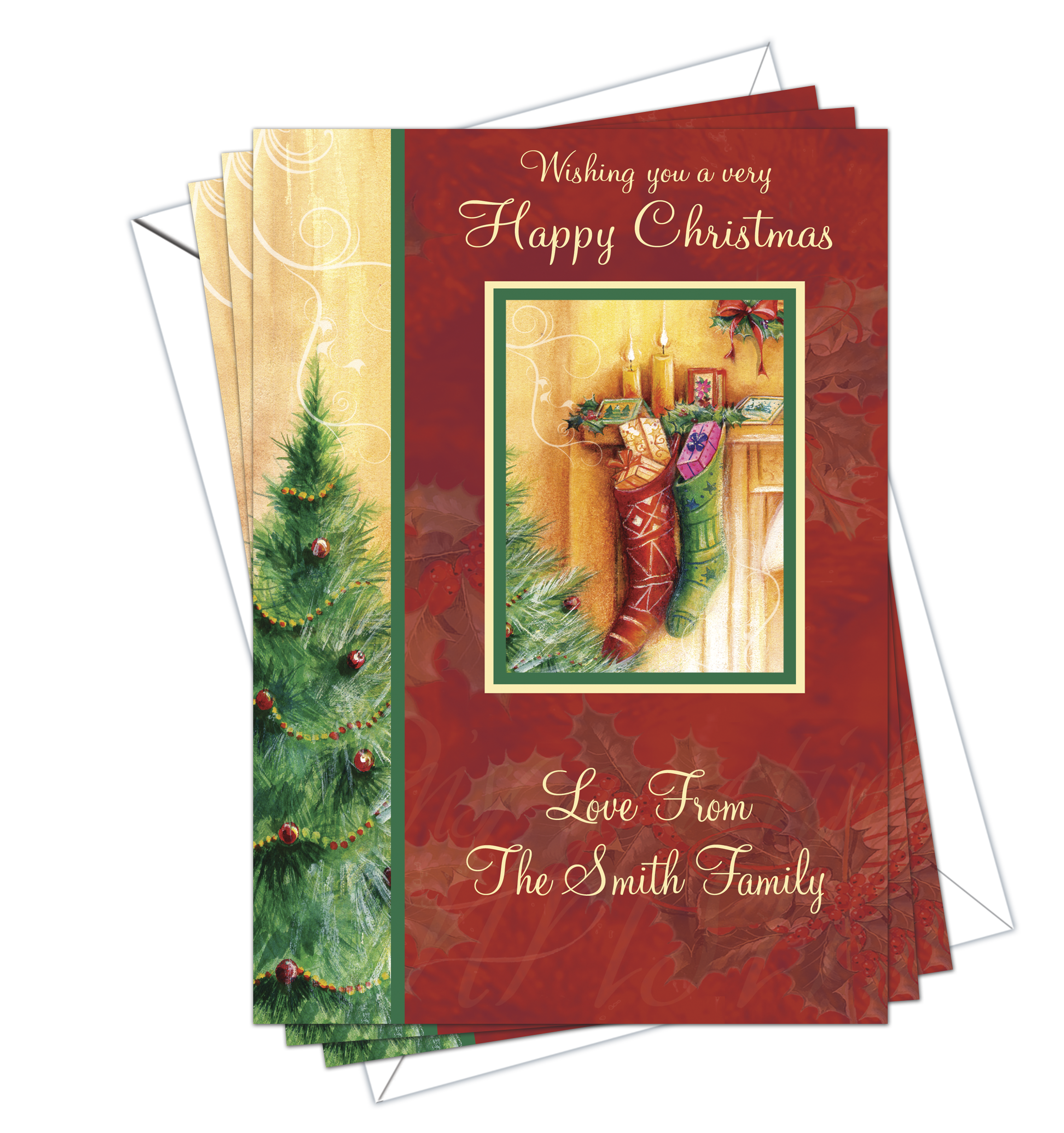 Christmas Cards Traditional Pack Of 10 Dl Designs Ltd